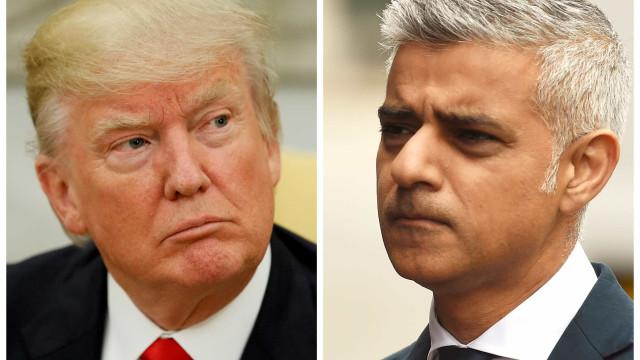 """""""Trump não é bem-vindo"""", avisa mayor de Londres"""