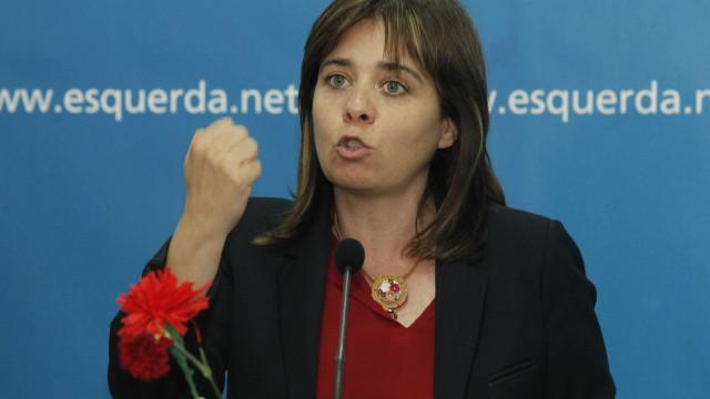 """Catarina Martins critica Centeno e """"ortodoxia neoliberal"""" do PS"""