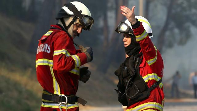Carro arde em viaduto da A4. Fogo propaga-se a zona de mato