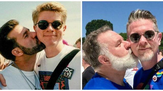 Casal homessexual recria beijo e fotografia torna-se viral