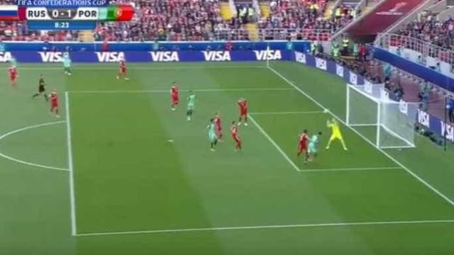 Raphäel Guerreiro cruza e Ronaldo faz o resto