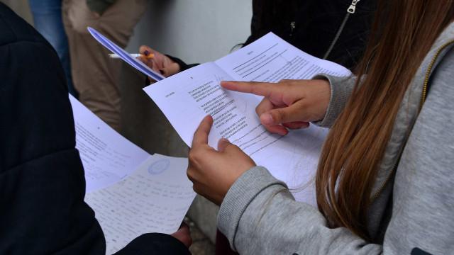 A gravação que deu origem a fuga de informação no Exame de Português