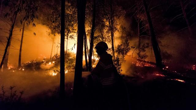 Fogo em Abrantes faz sete feridos, seis são bombeiros