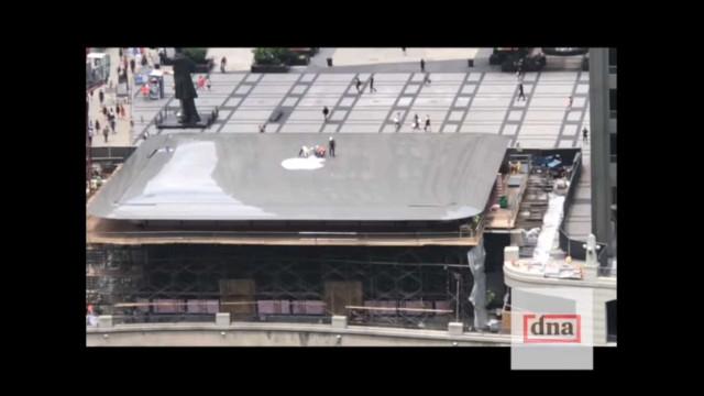 A nova loja da Apple tem um telhado curioso