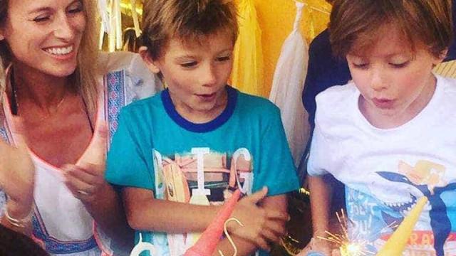 Núria Madruga celebra aniversário dos filhos gémeos