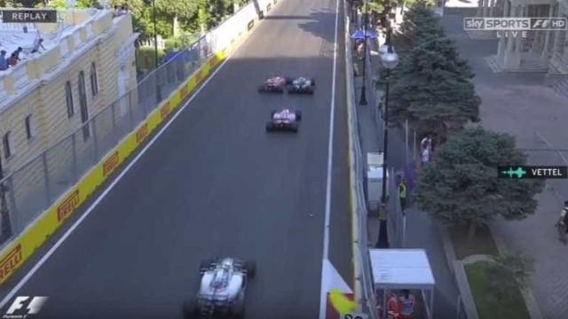 Hamilton e Vettel pegaram-se no GP do Azerbaijão