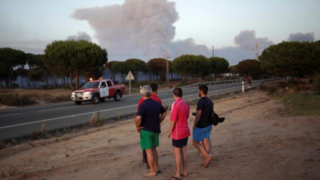 Trabalho de extinção total do fogo em Huelva mantêm-se nos próximos dias
