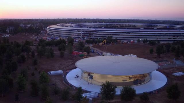 Novo vídeo de drone mostra onde serão anunciados os produtos da Apple
