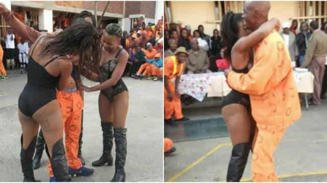 Reclusos receberam a visita de strippers e guardas foram suspensos