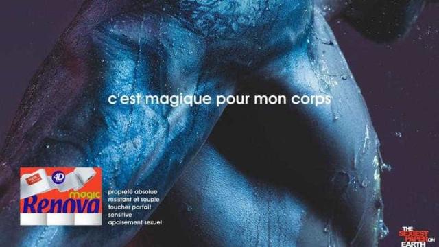 """Renova: Campanha banida em França por causa de tatuagem e """"prazer sexual"""""""