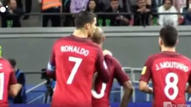 Televisão espanhola capta reação de Ronaldo aos penáltis com o Chile