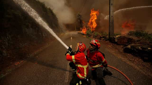 Incêndios: Fogo florestal em Guimarães em resolução