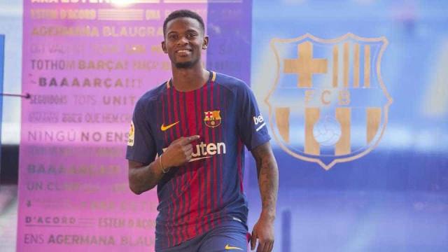 Nélson Semedo já treinou pelo Barcelona