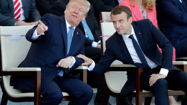 Banda militar toca Daft Punk para Macron e Trump no Dia da Bastilha