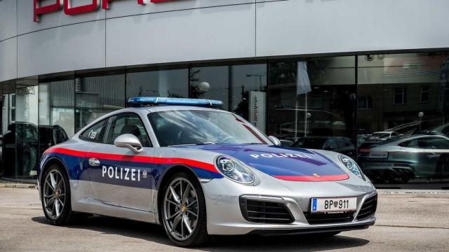 A polícia austríaca não faz por menos