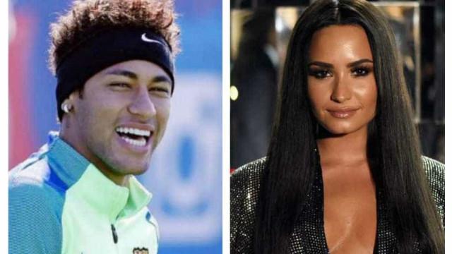 Depois de trocarem elogios, Demi Lovato e Neymar juntos em público