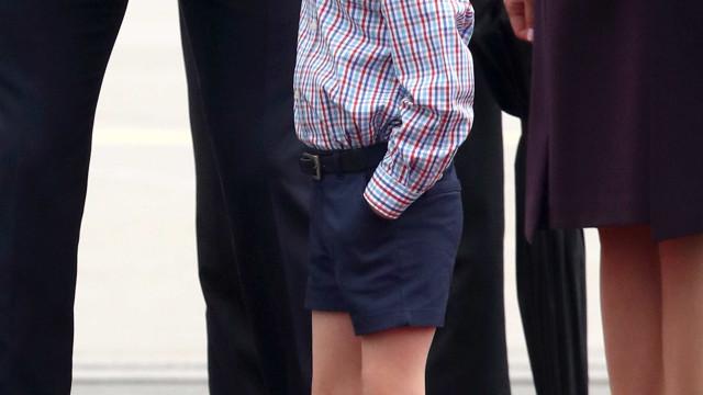 Príncipe George: O 'beicinho real' que está a derreter o mundo