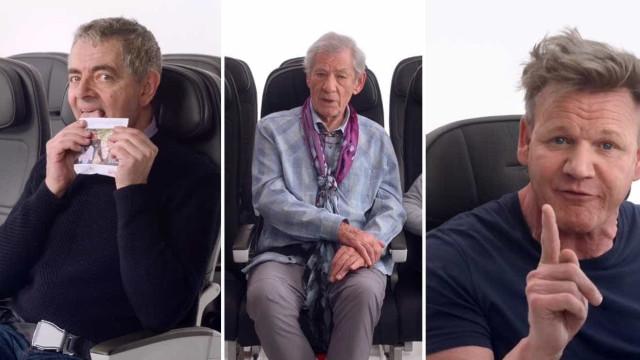 O que fazem Mr. Bean, Gandalf e Gordon no mesmo voo? Zelam pela segurança