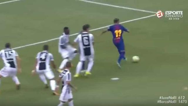 Neymar passa por um, dois, três, quatro, cinco… e é golo