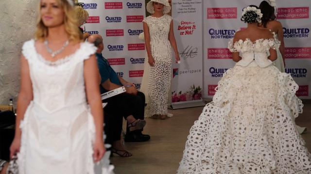 Acredite ou não, estes vestidos de noiva são feitos com… papel higiénico