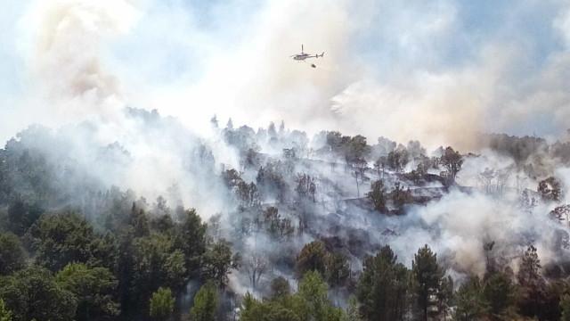 Dominado incêndio que se aproximou da Universidade da Beira Interior