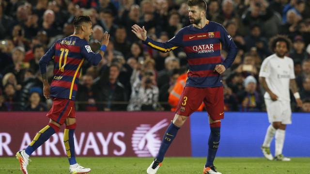 """Piqué e a imagem com Neymar: """"A minha publicação não foi oficial"""""""