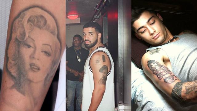 Famosos que tatuaram a cara de outras celebridades