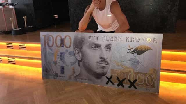 """Ibrahimovic: """"Já tinham o Benjamin Franklin. Agora têm-me a mim"""""""