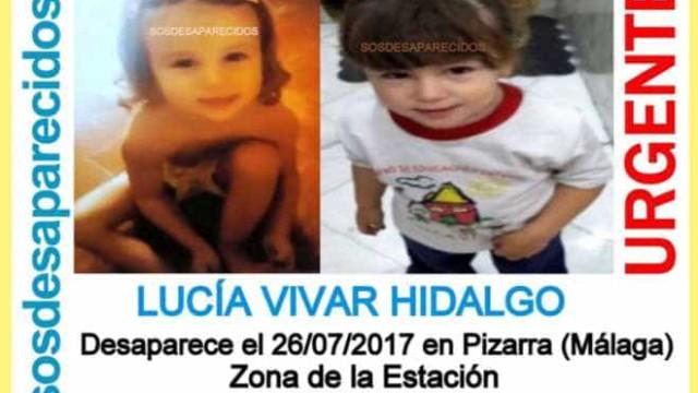 Menina de três anos desaparecida em Málaga foi encontrada morta