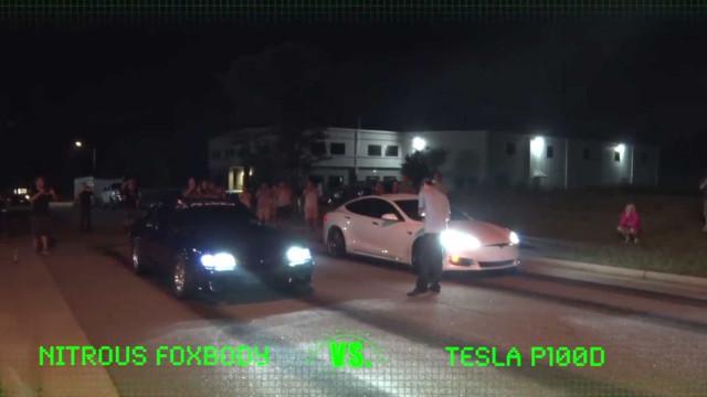 Levou um Tesla Model S a corridas de rua e 'destruiu' toda a competição
