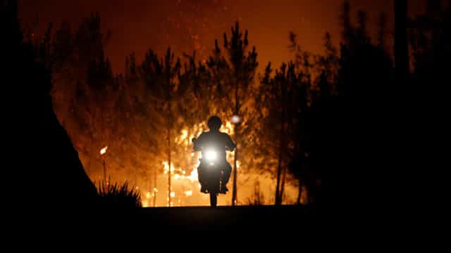 Incêndios: Chamas voltam a lavrar em Vila de Rei com muita intensidade