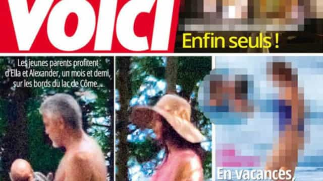 Revista divulga primeiras fotos dos filhos de Clooney. Ator fica irritado