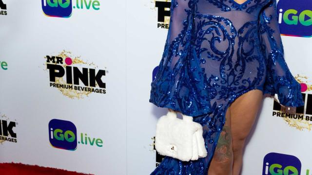 Blac Chyna exibe novo look em Hollywood