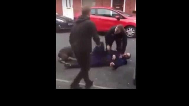 Homem morde cão polícia e fere agente durante detenção