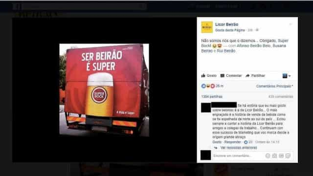 Super Bock e Licor Beirão desafiam-se no Facebook. Culpa é deste slogan