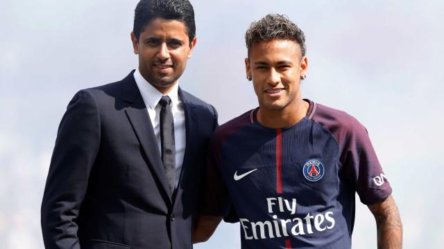 """Presidente do Barça 'atira-se' a Neymar: """"Este clube não é de um sheik"""""""