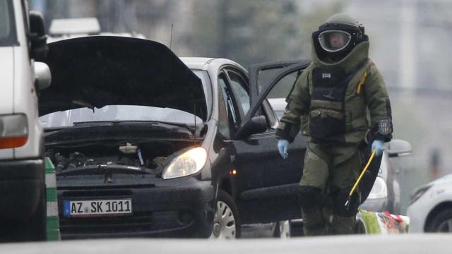 Não foram encontrados explosivos no carro intercetado em Bruxelas