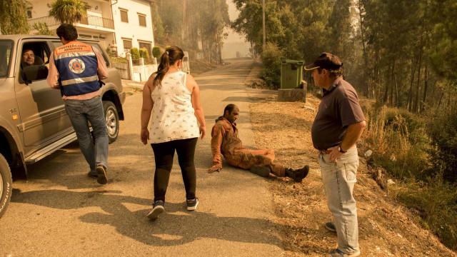 Incêndio em Abrantes é notícia lá fora. Estas imagens já correm o mundo