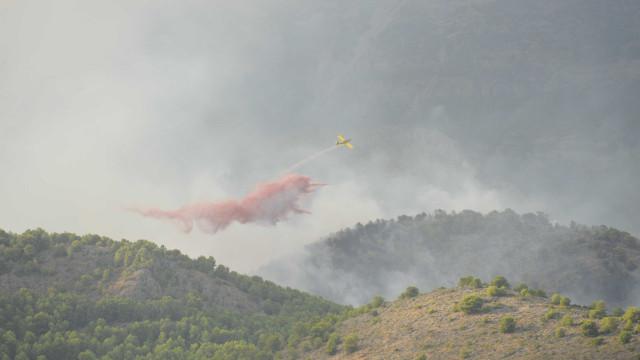 Quinze meios aéreos fazem ataque concertado em Mação e Vila de Rei