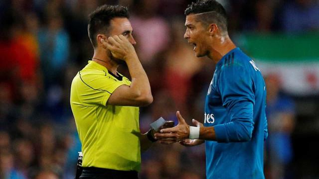 Real Madrid recorre da expulsão de Ronaldo frente ao Barcelona