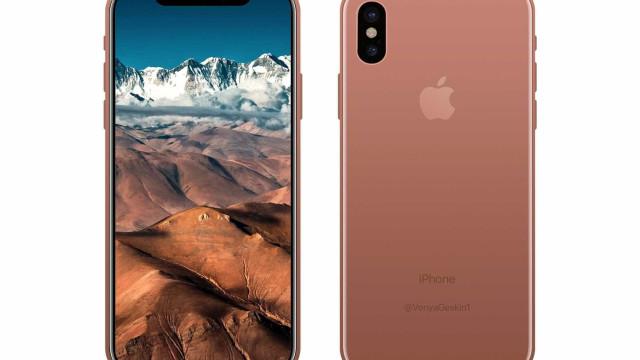 Há uma nova imagem do iPhone 8 em versão 'cobre'