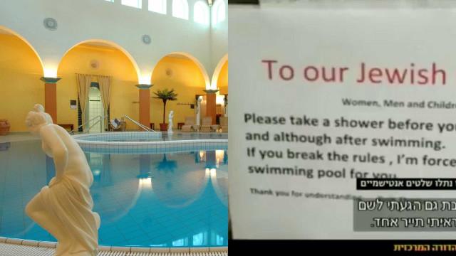 """Hotel colocou aviso a judeus: """"Tomem banho antes de entrar na piscina"""""""