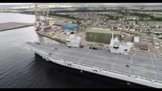 Drone pousa em navio de guerra e foi embora sem ninguém ligar