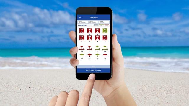 Antes de ir à praia, reserve o seu lugar... através de uma app