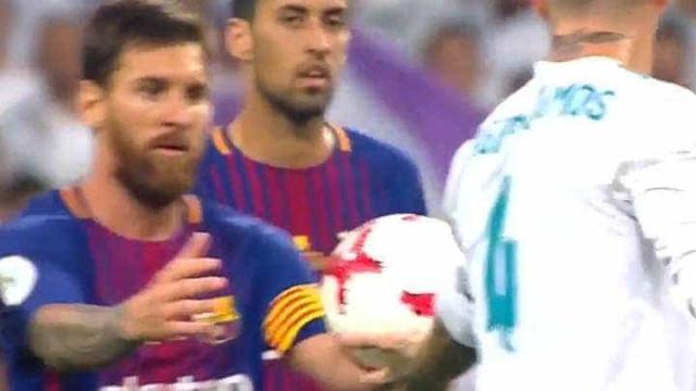 Ramos provocou e Messi não disfarçou a fúria