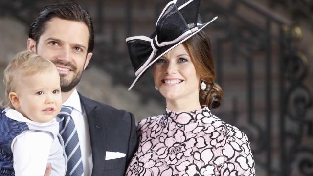 Príncipes Carl Philip e Sofia foram pais pela segunda vez