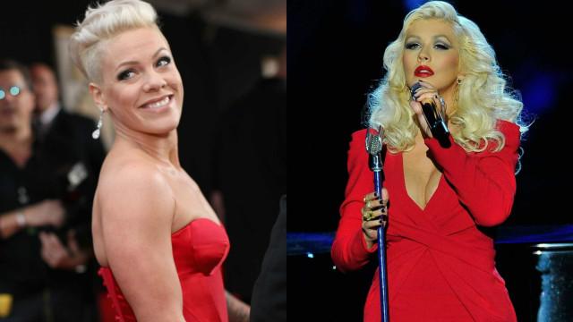 Pink faz as pazes com Christina Aguilera após 16 anos de zanga
