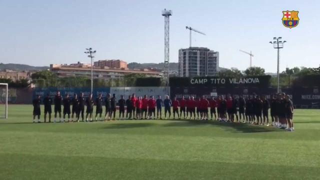 Plantel do Barcelona de luto após atentado terrorista