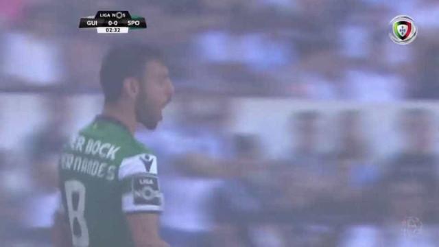 Bruno Fernandes pegou na bola e assinou um golo monumental