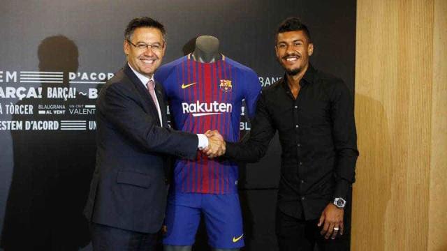 Barcelona: A venda de camisolas de Paulinho foi... inacreditável